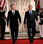 Bush and Blair; a hubristic 'folie a deux'.
